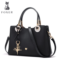 FOXER Brand Women's Cow Leather Shoulder Bags New Fashion Design High Quality Female Handbag Ladies Handbags Tote Purse For Girl