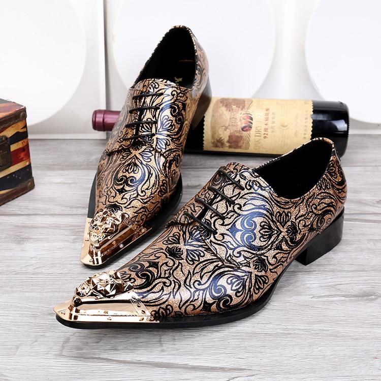 Men 39 s fashion floral wedding dress shoes lace shoes for Gold dress sandals for wedding