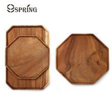 Kitchen Wood Serving Plate Coffee Tea Tray Cake Dessert Serving Tray Dishes Wooden Cheese Plate Food Fruit Platter Storage Tray