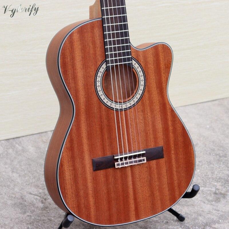 Image 5 - cutway thin body classic guitar full mahoganyelectric classical guitarclassical guitarguitare guitare -