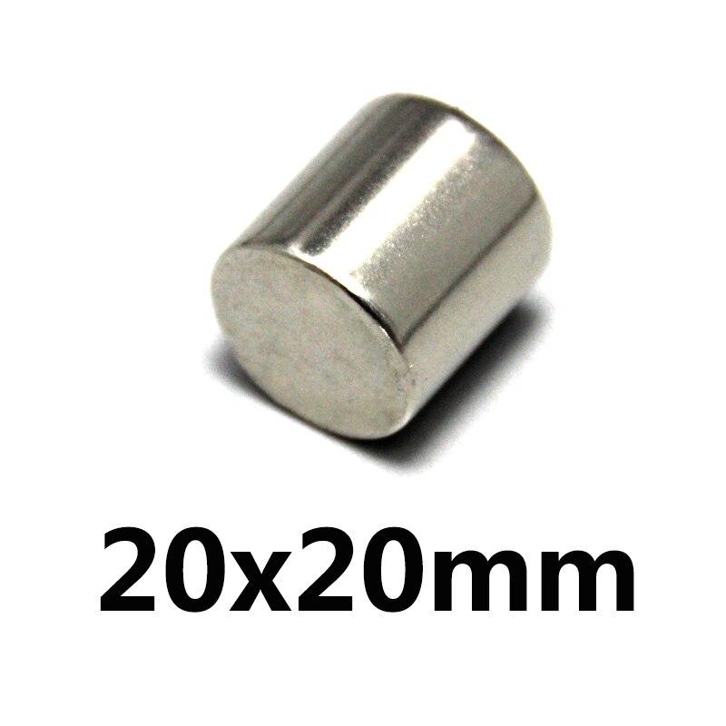 1 pcs Néodyme aimant 20x20 N35 Super strong ronde Rare Earth NdFeb N35 20*20mm plus forte permanent puissant magnétique