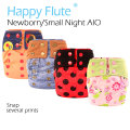 HappyFlute NB/S Night AIO  cloth diaper with HEMP insert for baby, fit 3-6 months baby, super absorbency