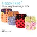 Happyflute nb/s noche aio pañal de tela con inserto de cáñamo para el bebé, fit 3-6 meses del bebé, absorbencia estupenda