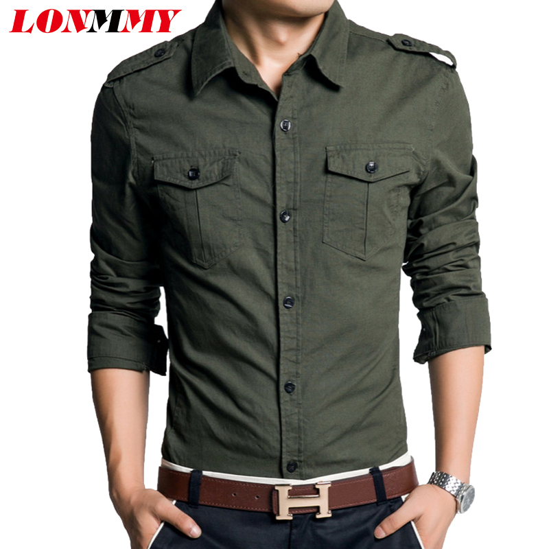 Khaki Green Mens Shirt