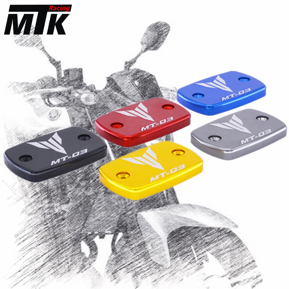 MTKRACING Free Shipping For YAMAHA MT-03 MT 03 Motorcycle Accessories Motorbike Brake Fluid Tank Cap Cover for yamaha mt 07 mt 07 fz07 mt07 2014 2015 2016 accessories coolant recovery tank shielding cover high quality cnc aluminum