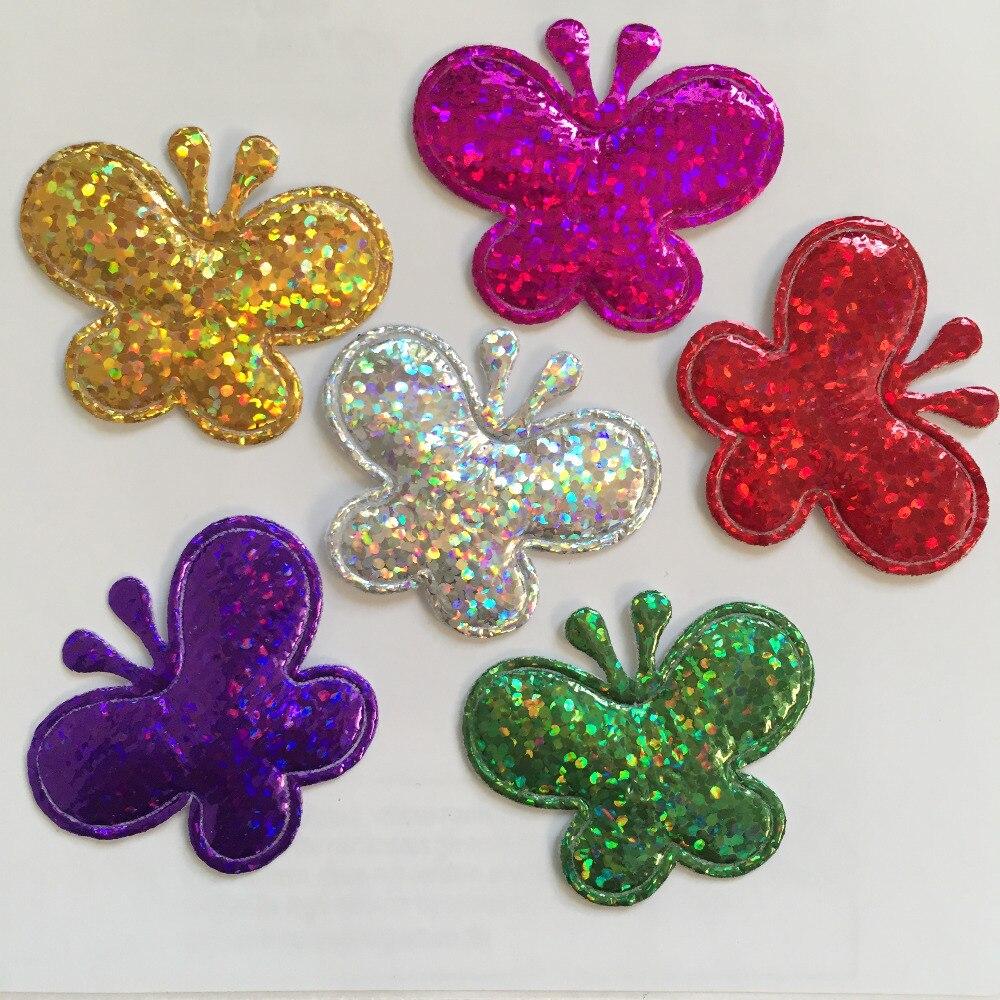 (40 шт./лот) мягкий mix бабочка аппликация свадьба/Новогоднее украшение/craft DIY A60A