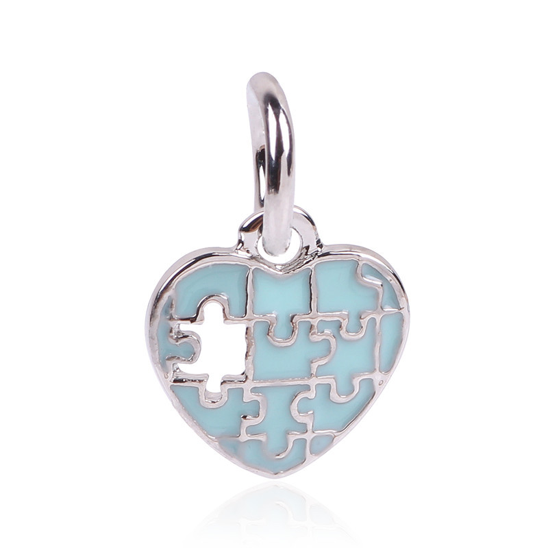 Autism Charms For Pandora Bracelets: 2018 New Arrival Free Shipping Puzzle Autism Jigsaw Charms