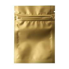 7*10cm 200pcs/lot Gold Matte Top Ziplock Mylar Foil Grip Sealing Dried Food Storage Pouch Aluminum Zipper Packaging Bag