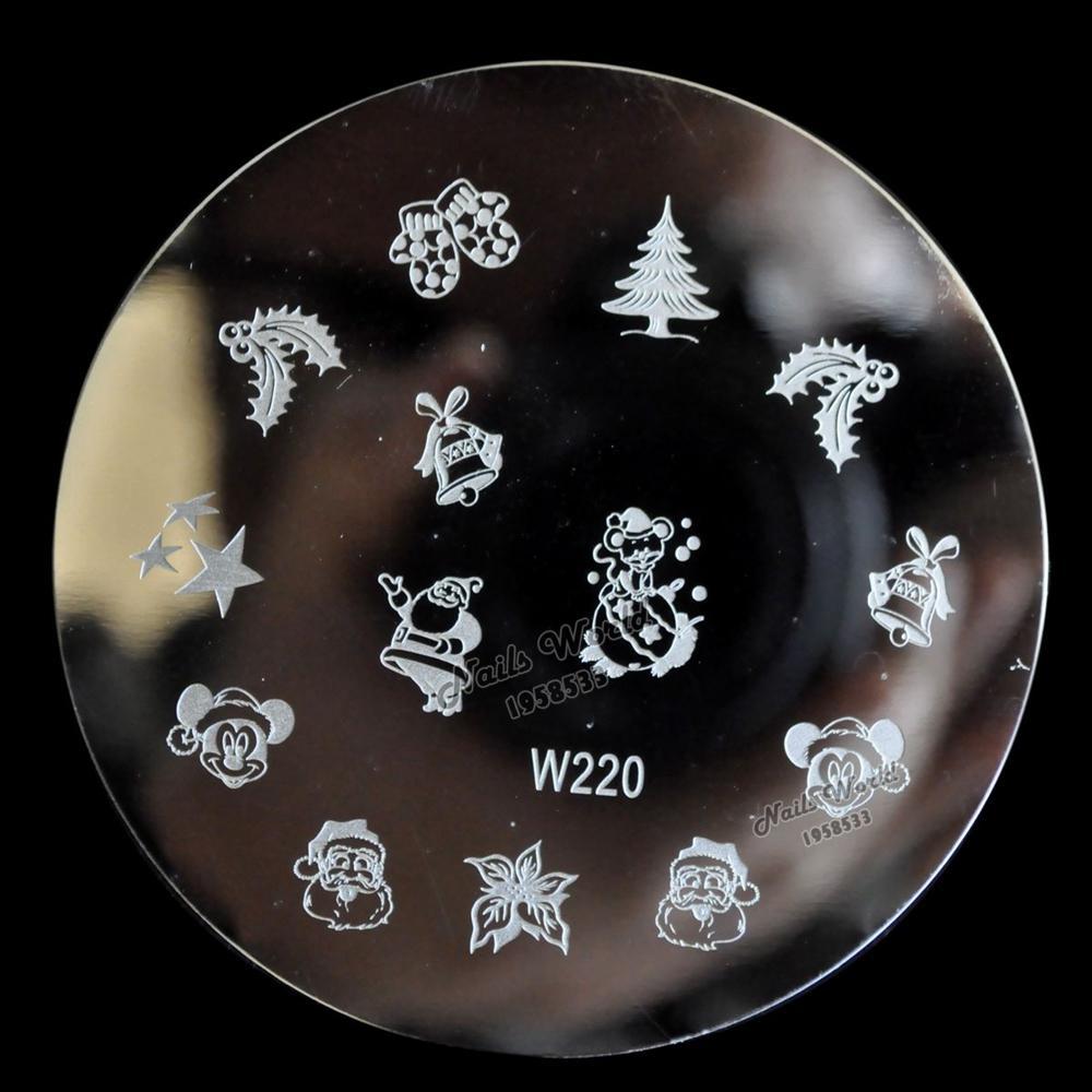 W series placa de imagen del clavo de DIY que estampa la plantilla de impresión