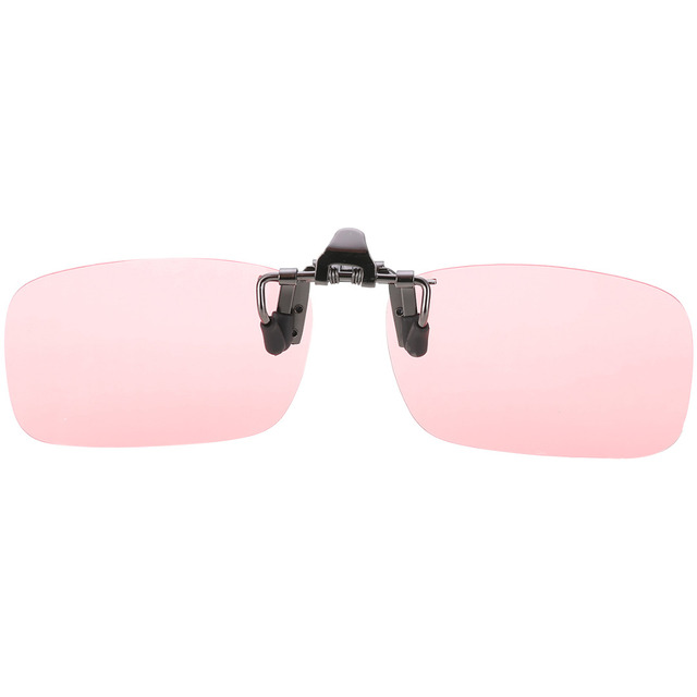 Plastic Mens Clip-on Sunglasses Cycling Equipment Cycling Fishing Eyewear Pink Lenses Eyewear Dedicated Glasses
