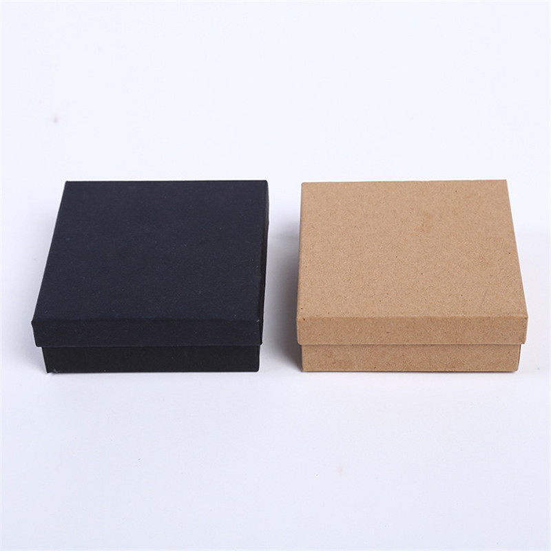 DoreenBeads Jewelry Boxes Paper Gift Box Vintage Brown Black Ring Box Necklace Box 9*9*3cm Multicolor Simple Style 1 Piece