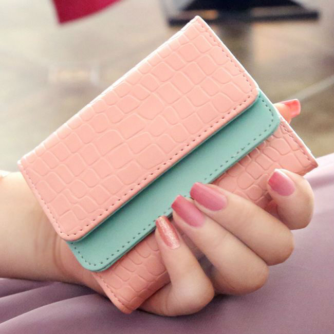 Purse Short Clutch-Case Card-Holders Hand-Bags Mini Wallets Zipper Small Fashion-Quality