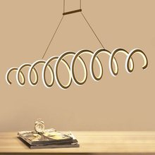 New Post-modernity Creative Simple LED Restaurant Chandeliers Living room bedroom study office cafe lighting(China)