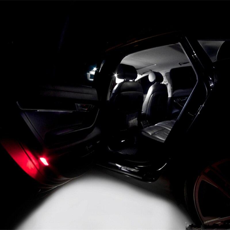 14 шт. ошибок авто светодиодный лампы автомобиля Подсветка салона комплект купола лампы для Audi A6 C6 RS6 аксессуары 2005- 2011 светодиодный интерьер ...