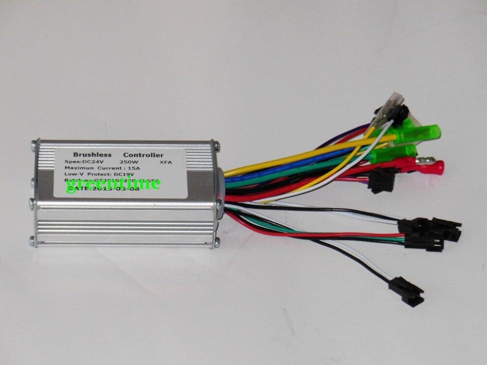 Greentime 24 V 250 W brushless dc motor e-bici controlador modo dual sensor/sin sensor bldc controlador
