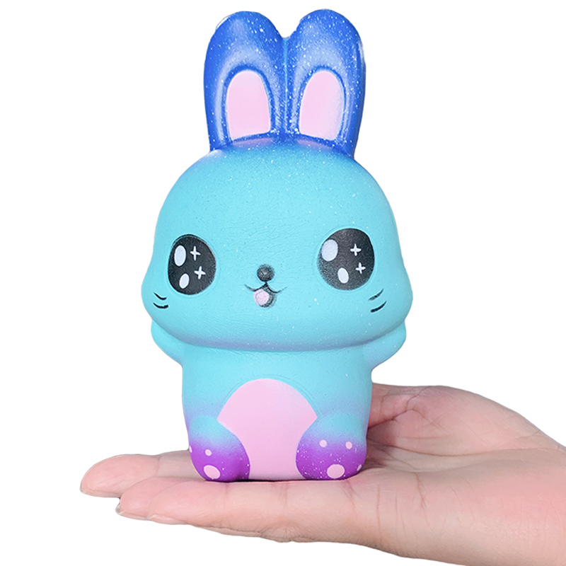 Jumbo Colorful Galaxy Cute Rabbit Squishy Creative Slow Rising Bread Scented Soft Squeeze Toy Stress Relief Fun For Kid Gift Toy