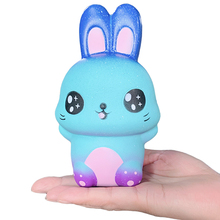 Jumbo Colorful Galaxy Cute Rabbit Squishy Creative Slow Rising Bread Scented Soft Squeeze Toy Stress Relief Fun for Kid Gift