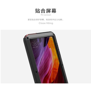 Image 5 - Love Mei Phone Case on for xiaomi Mi MIX waterproof shockproof dirtproof Cover for xiaomi Mix Gorilla Glass xiomi mix case