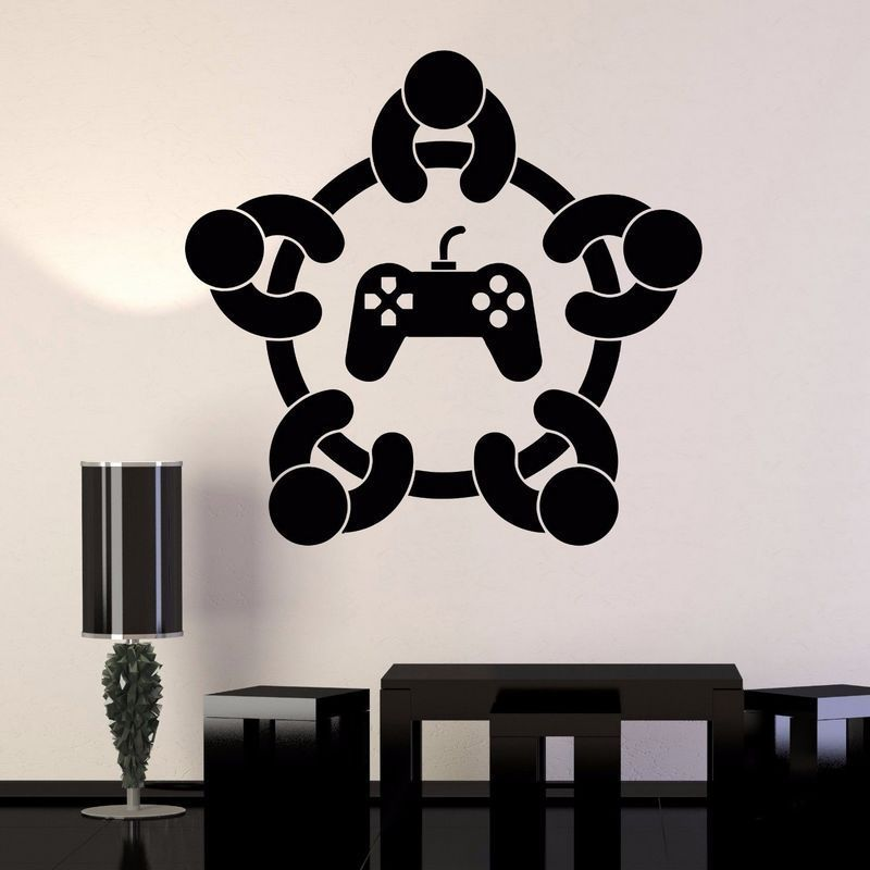 YOYOYU 40 colors Art Vinyl wall sticker Gaming Quote Removeable Wall decal Bedroom Saloon wall Decor for kid gaming poster ZX093