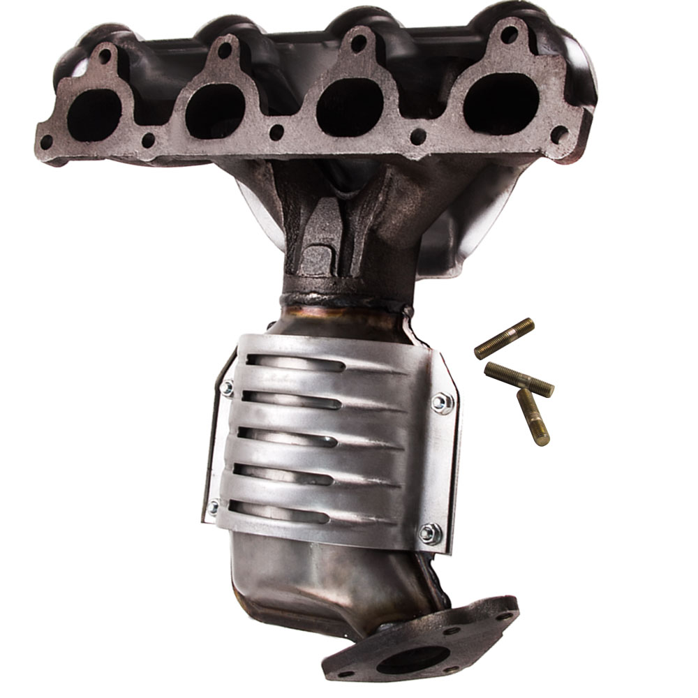 exhaust manifold header cat converter fit honda civic dx vp lx cx d16 engine l4 18160 p2e a50 18160 p2e l00 674439