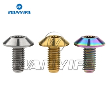 Wanyifa Titanium Bolts M6x12 15 20mm Torx Umbrella Head Screw for Bike Motorcycle Bolt