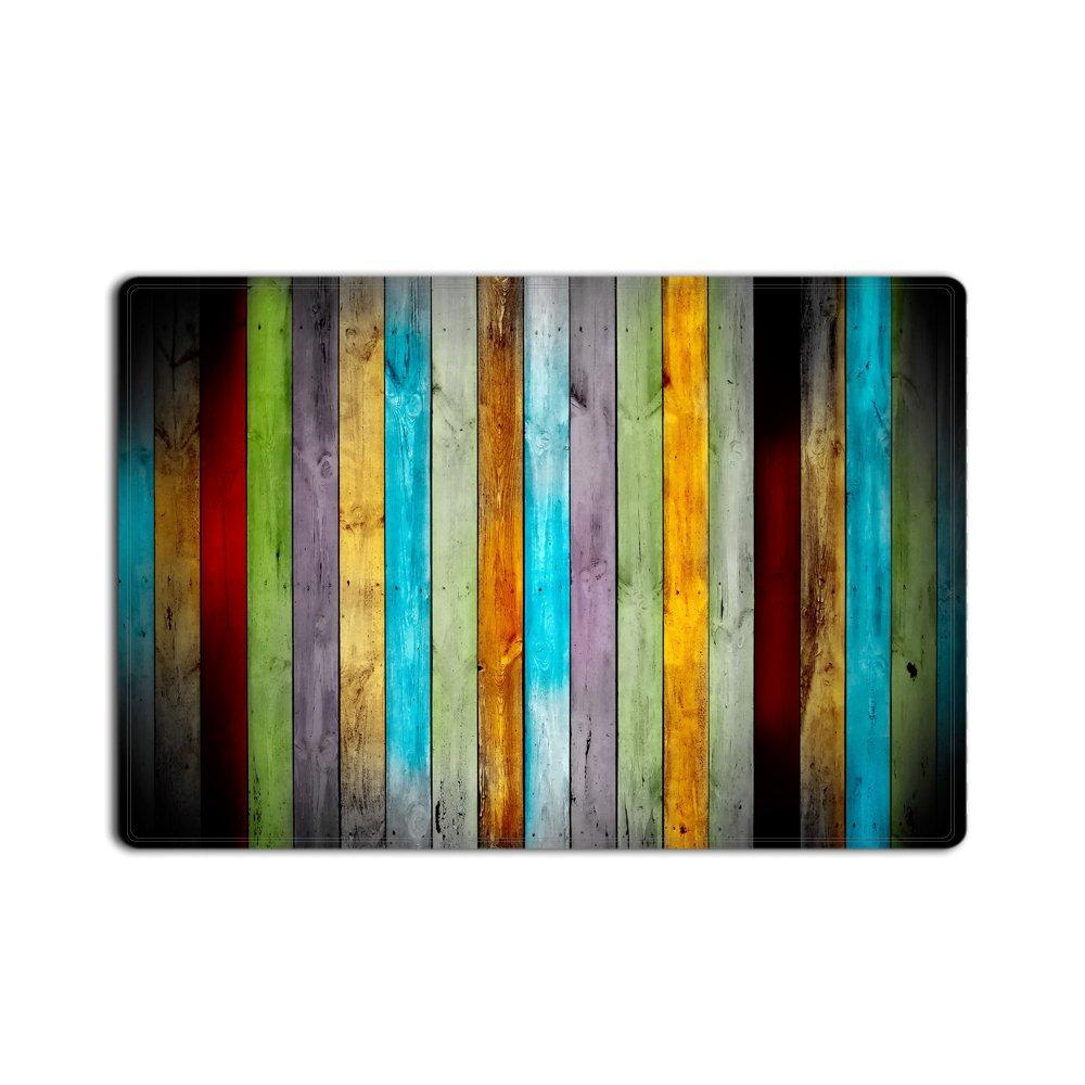 goodbath divertida alfombra de bao alfombras de madera rstica de la vendimia rectngulo piso entradas