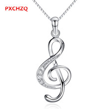 Women popular silver jewelry pendant Crystal pendant necklace notes goddess temperament simple Thanksgiving Christmas gift