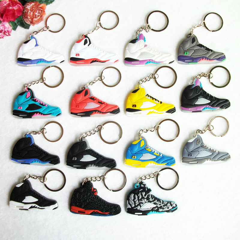 Mini Silicone Sneaker Jordan 5 Keychain Key Chain Shoes Car Key Holder  Woman Men Bag Charm Accessories Key Rings Pendant Gifts-in Key Chains from  Jewelry ...