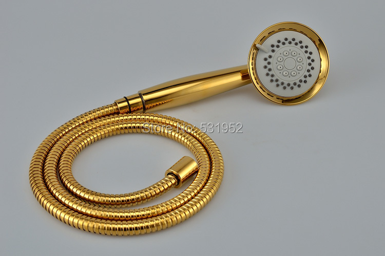 3 Jet High Quality PVD TI Gold Finish Telephone Hand Held Shower ...