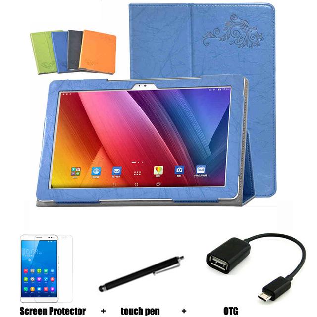 Para Asus ZenPad10 Z300CG Z300C Z300CL P021 10.1 '' Tablet PC estojo de couro dormência de proteção Shell / pele