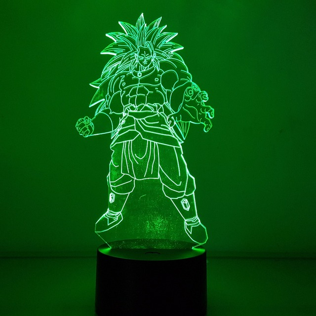 Broly Visual Illusion LED 3D ( 7 Color Changing)
