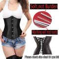 Sexy Women's Boned Waist Trainer Lace Up Back Top Underbust Corset Bustier Plus Size S-2XL Lingerie Dress Slimming Body Shaper