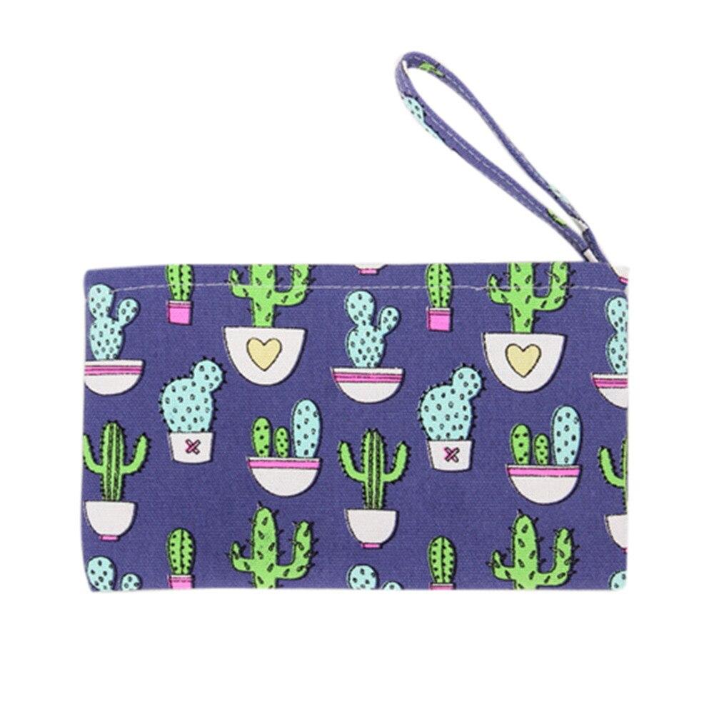 Girls Cute Fashion Canvas Print Coin Purse Women Mini Wallet Flap Bag Change Pouch Key Holder monedero mujer