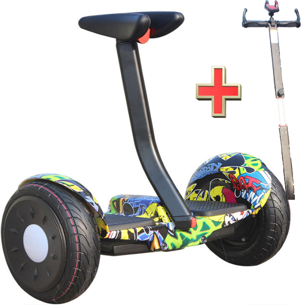 Feet Brakck Two Wheels Self Balance Electric Scooter Skateboard Unicycle With Handle Body