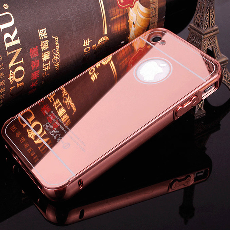 coque for 4s luxury aluminum mirror electroplating case