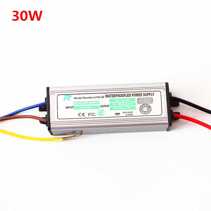 AC 85-265 V à DC 12 V 24-38 V 10 W 20 W 30 W 50 W 100 W alimentation projecteur LED pilote transformateur d'éclairage IP67 adaptateur étanche