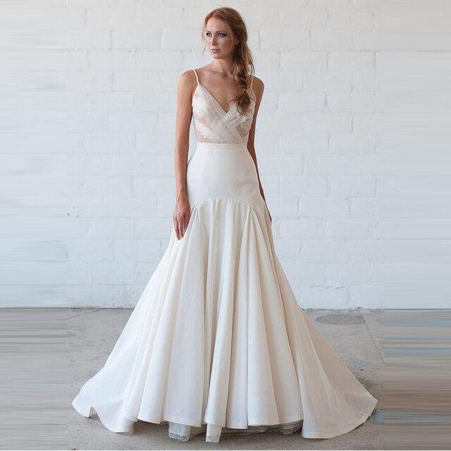 b554052387cd5e Formele Stijl Mermaid Bruid Bruiloft Rok Custom Made Rits Taille Floor  Lengte Lange Rok Witte Volledige