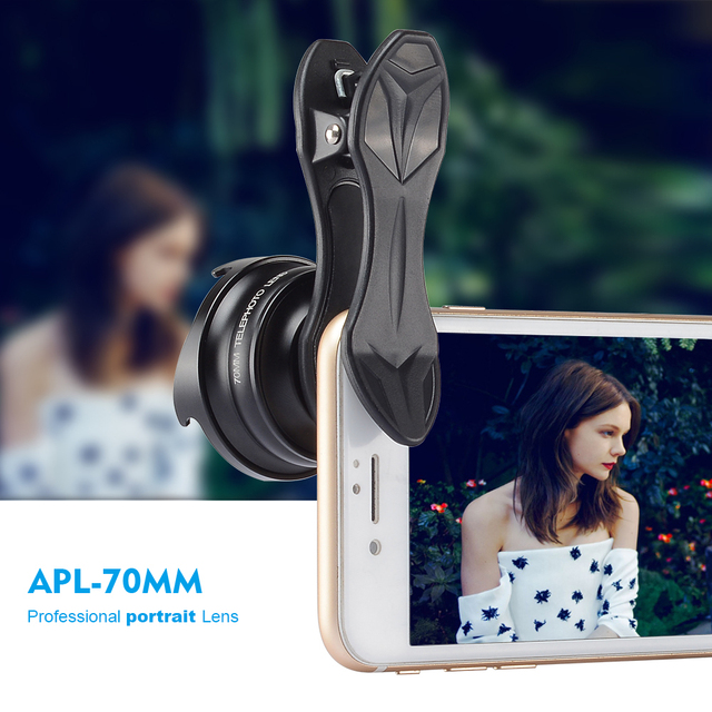 APEXEL Professional phone Lens 2.5X HD SLR Telefon telescope lens bokeh Portrait for iPhone 6S/7 Xiaomi more smartphone 70mm 4