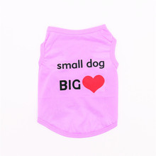 Blue pink and purple Small Dog Vest Home Pet Clothes for T-shirts Puppy Sport Outfit Spring Coats