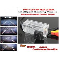 For TOYOTA Avensis Corolla Sedan 2003~2016 Intelligentized Reversing Camera Rear View Back Up Lines Dynamic Guidance Tracks