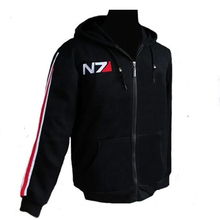RPG Game Mass Effect 3 N7 top Coat mens Clothes cosplay costume black Jacket / Sweatshirt unisex cotton tracksuits