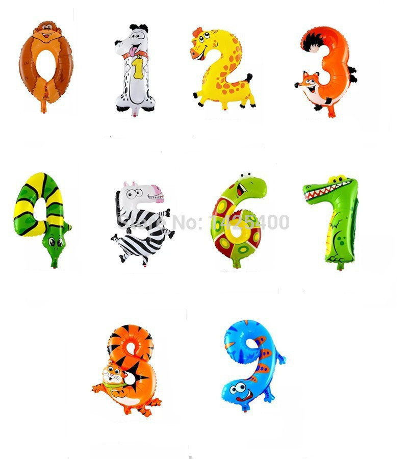 free shipping The new aluminum balloons balloon animals for children 0-9 birthda