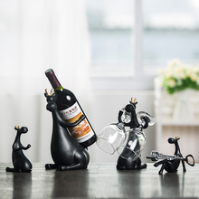 New resin Red Wine Rack Bottle Holder creative Figurines & Miniatures deer family Furnishing Articles for home wedding decor