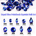 Free Shipping New 100pcs K9 Quality Swarovski Royal Blue Pointback Rhinestones Glass Nail Art Rhinestones Decor Gold Glitters