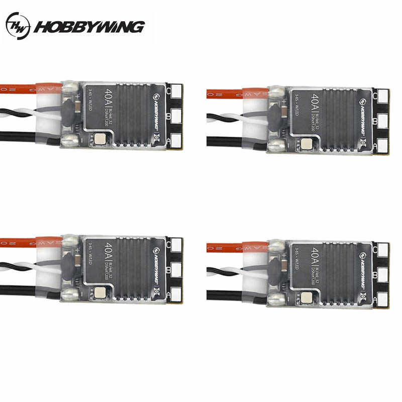 Hobbywing XRotor Micro 40A BLheli_32 brazo 3-6S CES DShot1200 con indicador LED para el RC Drone Quadcopter del Racerstar Emax