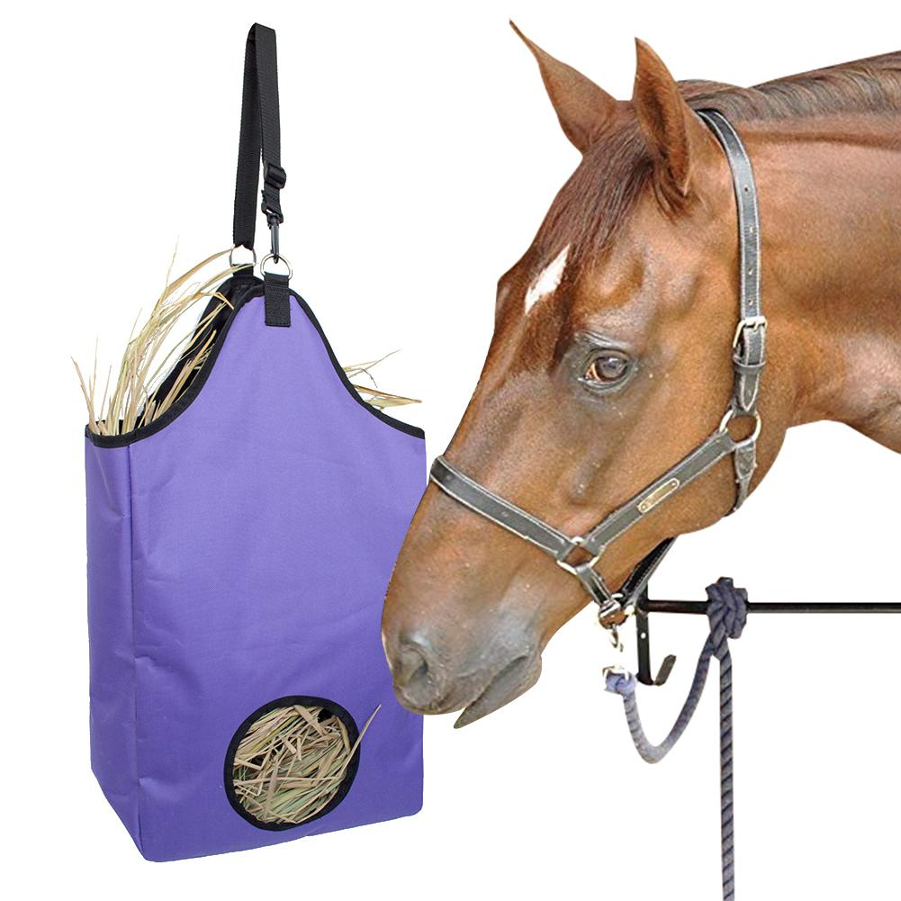 Large Capacity Slow Feed Hay Bag Haylage Storage Feeder Pouch Tote Outdoor Horse Riding Performance Training Gear