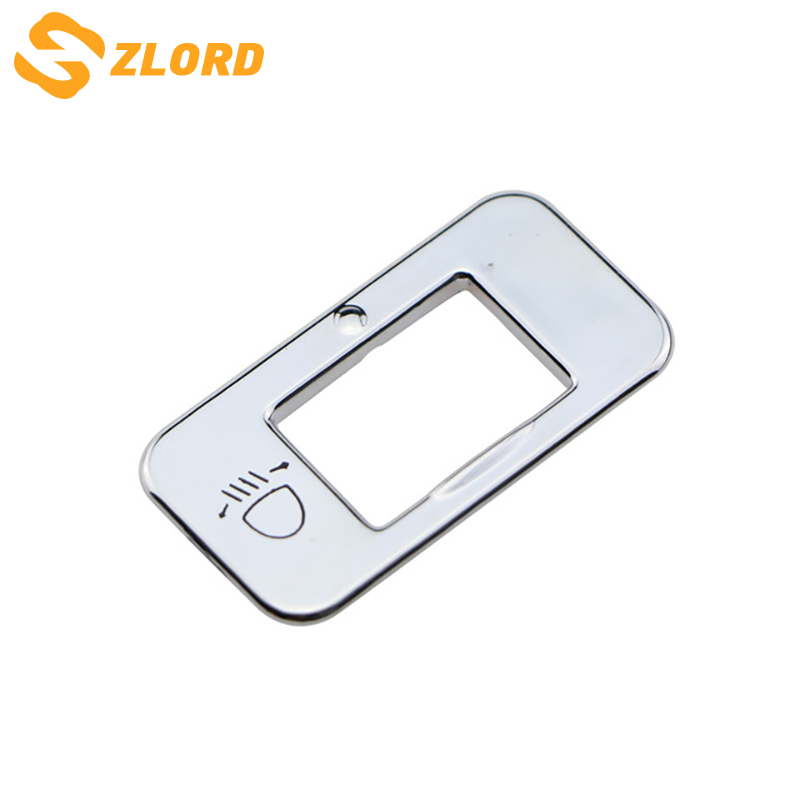Zlord ABS <font><b>Chrome</b></font> Headlight Adjustment Knob Switch Sequin Cover Trim Sticker for <font><b>Peugeot</b></font> 2008 3008 <font><b>208</b></font> 2014-2017 Accessories image
