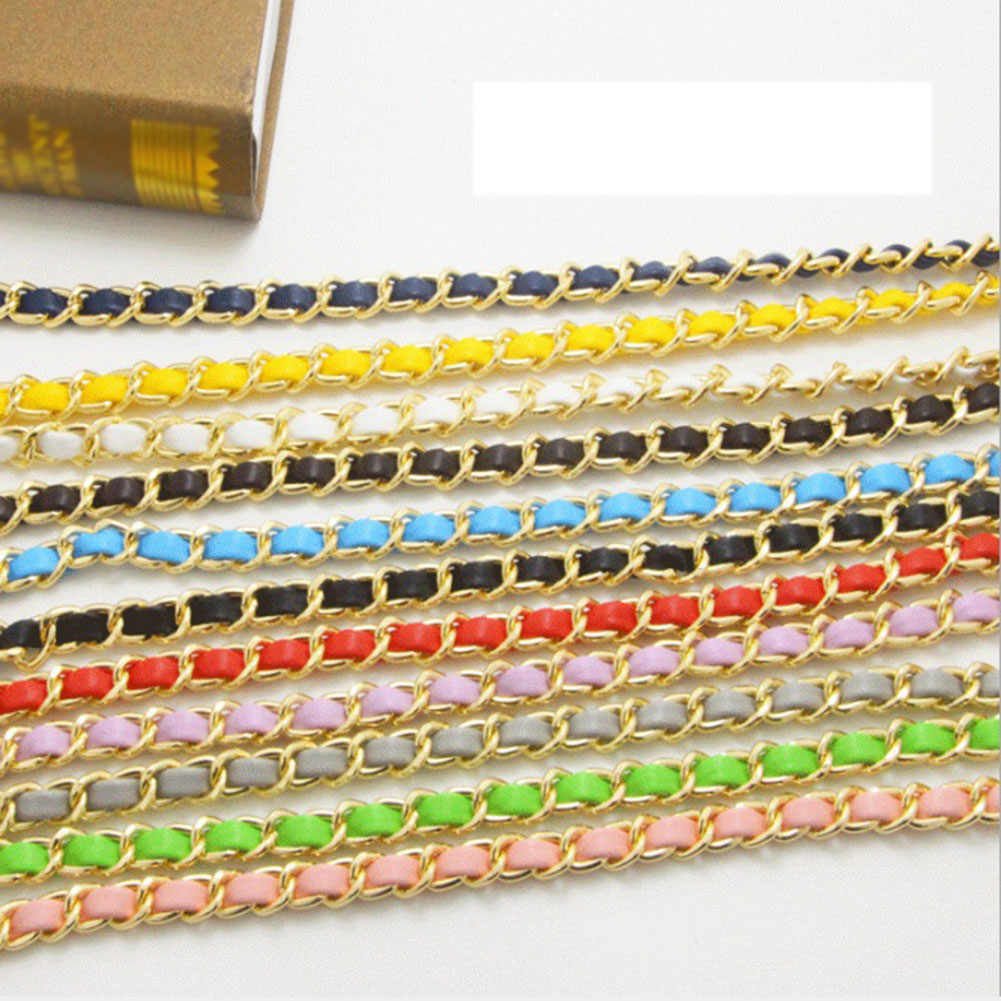 1 PC 125 cm Detachable Replacement Bag Strap Pu Leather Long Belts Shoulder Handbag Chain Bag Strap Bands Bag Accessories