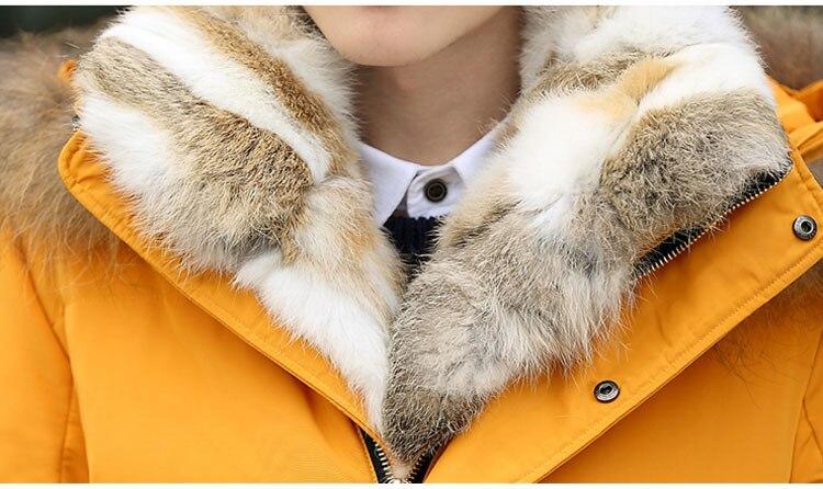 New Women Winter Puffer Raccoon Down Women Jacket 2018 v7Ufqq