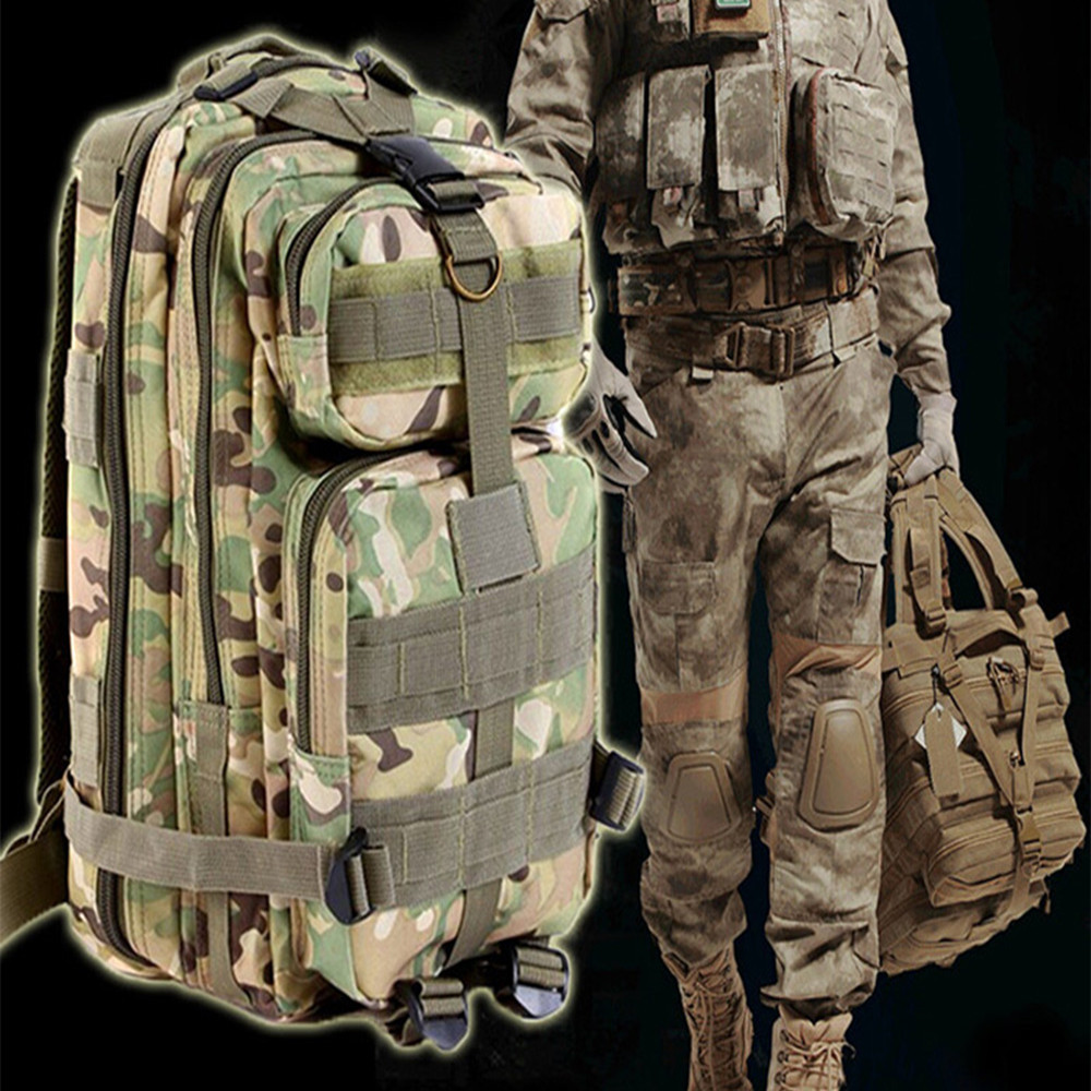 9 color 3P Outdoor Tactical Backpack 30L Military <font><b>bag</b></font> Army Trekking Sport Travel Rucksack Camping Hiking Trekking Camouflage <font><b>Bag</b></font>